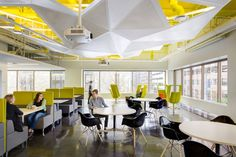 painted exposed ceiling - Autodesk Offices - San Francisco - Office Snapshots