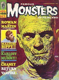 "Famous Monsters of Filmland - issue #58 - 1969 - Boris Karloff, ""The Mummy"""