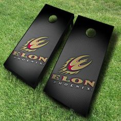 These regulation size Elon Phoenix cornhole boards are great for both on and off campus events.  The slanted Phoenix logo...