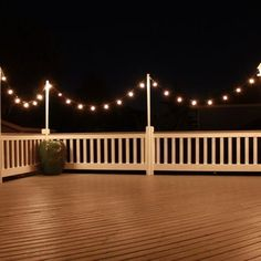 Love the string lights for the deck in the summer.