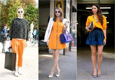 tendecia verao 2015 roupas laranjas