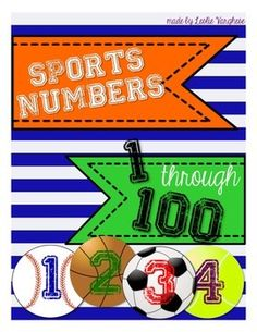 Sports Themed Numbers 1-100