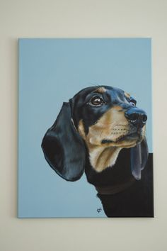 Black Magic by Victoria Coleman. A beautiful original impressionist painting of a dog. This painting comes from Victoria's collection on FineArtSeen l The Home Of Original Art. Dachshund Drawing, Arte Dachshund, Dachshund Love, Wildlife Paintings, Wildlife Art, Animal Paintings, Pop Art Wallpaper, Photo Images, Weenie Dogs