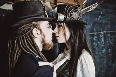 Steampunk Photoshoot-take at train yard and in forest, maybe make 2 outfits that can be interchanged.