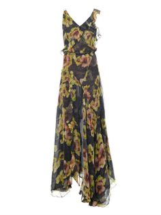 too rich for my blood, but still pretty. Rabea floral-print silk dress by: ISABEL MARANT