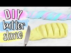 DIY EASY BUTTER SLIME!!! Simple Recipe!!!  FAILPROOF AND NO CLAY! - YouTube