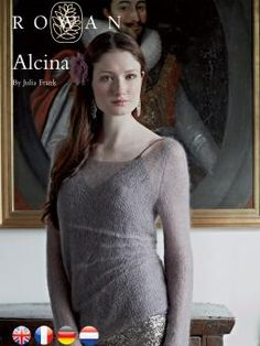 Alcina free pullover sweater knitting pattern with side tuck detail