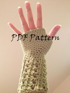 Crochet Star Stitch Fingerless Mitts