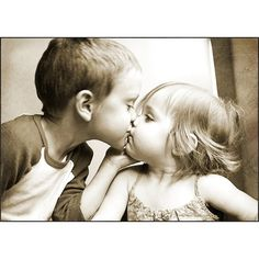 First kiss. ❤ liked on Polyvore featuring couple