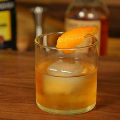 This Old Fashioned variation was inspired by Becherovka liqueur. It's slightly sweet, smooth, and almost nutty in flavor.