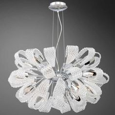 "Origami 21 Light Chandelier | Eurofase at Lightology 18 x 36 with 180"" cord.  ships in 3-5 bus days $3220"