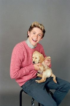 Niall with puppy.