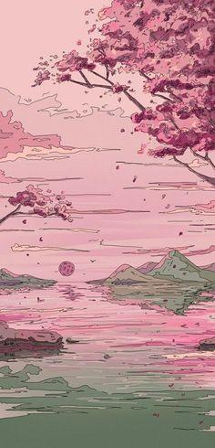Iphone Wallpaper Kawaii, Pink Wallpaper Anime, Anime Scenery Wallpaper, Iphone Background Wallpaper, Cartoon Wallpaper, Cool Wallpaper, Normal Wallpaper, Lock Screen Wallpaper, Anime Backgrounds Wallpapers