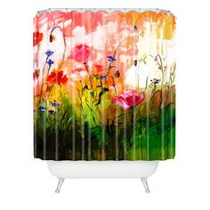 Ginette Fine Art Jardin Rose Shower Curtain | DENY Designs Home Accessories