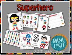 Free Superhero Preschool Printables | Free Homeschool Deals ©