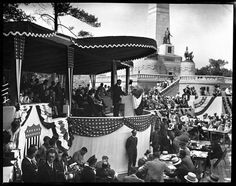 Herbert Hoover conducting the Lincoln Tomb re-dedication ceremony. Sprinfield, IL 1931. Courtesy of the State Journal-Register