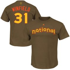 Dave Winfield San Diego Padres Majestic 2016 MLB All-Star Game Name & Number T-Shirt - Brown - $22.99