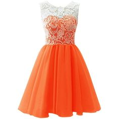 Dresstells Long Prom Dress Sweetheart Wedding Bridal Gown Organza Ball... ($170) ❤ liked on Polyvore featuring dresses, cocktail dresses, lullabies, orange, bridesmaid dresses, cocktail prom dress, orange cocktail dress, orange prom dresses and lace dress
