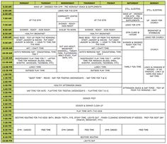 A Daily & Weekly Schedule for Stay at Home Mom's [ournestingplace]