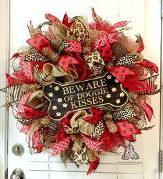 Cute!!!                                                                                                                                                      More Deco Wreaths, Wreath Bows, Burlap Wreaths, Door Wreath, Ribbon Wreaths, Wreaths For Front Door, Burlap Wreath Tutorial, Summer Wreath, Mesh Wreaths Summer