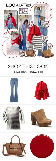 """""""Look for Less"""" by court8434 ❤ liked on Polyvore featuring AG Adriano Goldschmied, Sole Society, Merona, Jin Soon, LookForLess, red and polyvoreatitsbest"""