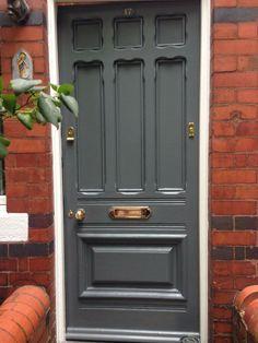 Front Door Painted in Little Greene's 'Scree'