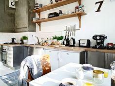 tonos neutros en una cocina actual