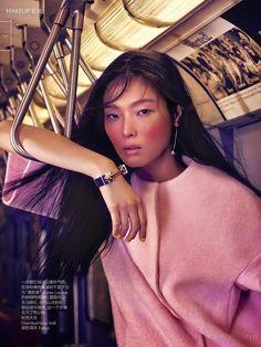 Magazine: Vogue China, August 2014 | Editorial: Girl on the Go | Model Sung Hee Kim | Stylist: Tina Chai | Hair: Diego da Silva | Make-up: Jeanine Lobel | Manicure: Honey  Agency: Wilhelmina