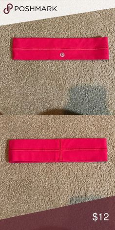 lulu lemon headband Great condition, small pin stain, cleaned lululemon athletica Accessories Hair Accessories