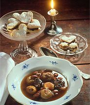 Mixed fruit soup - Christmas dessert in Finland - also, you'll find many more Finnish RECIPES.