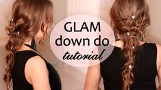 Holiday hairstyle tutorial: down do for Christmas and New Year's eve for long hair