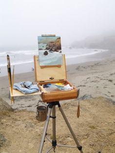 outdoor studio! Plein air painting