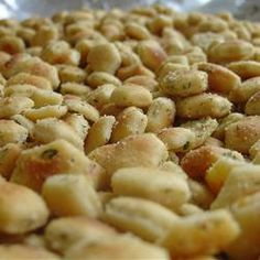Ranch Style Oyster Crackers. I love them so.  My mom makes these and they are SO good!!!