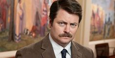 """Illinois alumnus Nick Offerman, who plays Ron Swanson on """"Parks and Recreation,"""" is returning to campus to raise funds for Japan House. #hireillini"""