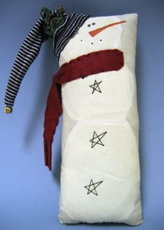 Snowmen  ,, do this with a pillowcase, scarf, etc. for your entry bench