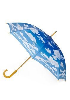 Cumulus Cutie Umbrella - Blue, White, Vintage Inspired, Statement, Quirky, Spring