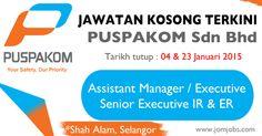 Jawatan kosong terkini PUSPAKOM Sdn Bhd Januari 2015. #kerjakosongpuspakom2015 #jawatankosongpuspakom2015