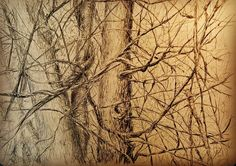 Hidden thicket #pencilsketch #nature #drawing #trees #branches Drawing Trees, Nature Drawing, Branches, My Drawings, Black And White, Abstract, Artwork, Instagram, Summary