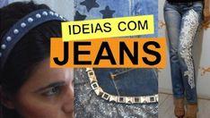 Customização com jeans Preschool Christmas, Christmas Crafts For Kids, Sewing Hacks, Sewing Tutorials, Sell Vinyl Records, Bikinis Crochet, Crochet Yoke, Patched Jeans, Denim And Lace