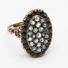 antique ring - old world diamonds