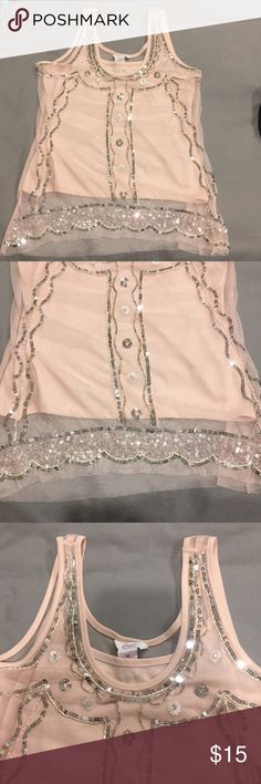 NWOT Offers Welcome🎉 Sequence pink shear tank Beautiful light pink shear mesh tank with under cami. Love it, but just haven't had an occasion to wear it 😞 Candie's Tops Tank Tops