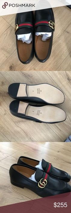 Gucci loafers Classic Gucci man loafer with logos. Gift for him this valentines. Never worn. Has the box Gucci Shoes Flats & Loafers