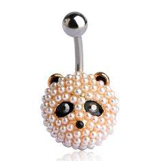 Cute Panda Body Piercings Navel Belly Button Ring