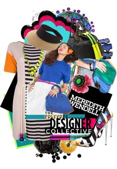 """""""'Color Theory with Meredith Wendell - Electric eclectic resort 2013, #3'"""" by hexy ❤ liked on Polyvore"""