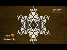 Padi Kolam with dots Simple Rangoli Kolam, Simple Rangoli Border Designs, Rangoli Designs Latest, Rangoli Designs Flower, Free Hand Rangoli Design, Small Rangoli Design, Rangoli Designs Diwali, Rangoli Designs With Dots, Rangoli With Dots