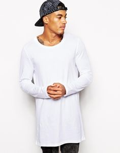 ASOS Super Longline Long Sleeve T-Shirt With Scoop Neck