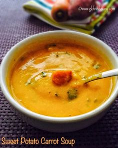 Sweet Potato Carrot Soup Recipe for Babies, Toddlers and Kids 2
