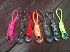 Paracord compass keychain/zipper/knife fobs $5.99 + shipping