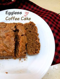 Eggless Coffee Cake is an easy cake made with instant coffee powder and with the ingredients easily available in your pantry. Eggless Coffee Cake Recipe, Eggless Desserts, Eggless Baking, Eggless Recipes, Cooking Recipes, Easy To Make Desserts, Easy Cake Recipes, Brownie Recipes, Fun Desserts