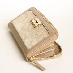 Leather & fur ANNAMARIA PAP handmade wallet